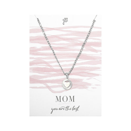 Mom Love Necklace - Zilver
