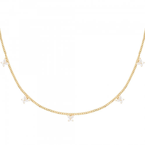 Mini Butterfly Necklace - Goud