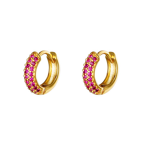 Djaya Earrings - Goud & Roze