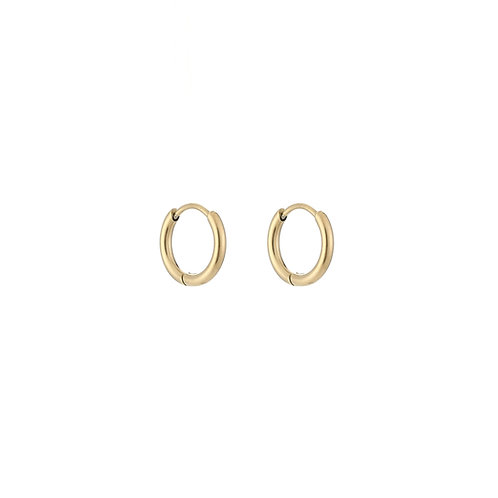 Mini Ring Earrings - Goud