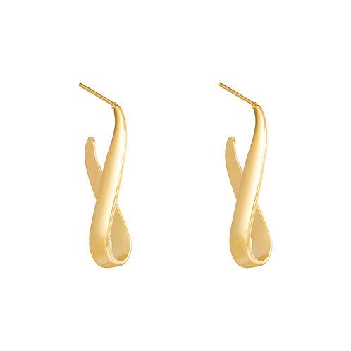 Wavy Earrings - Goud