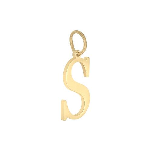 """""""S"""" Charm - Goud & Zilver"""