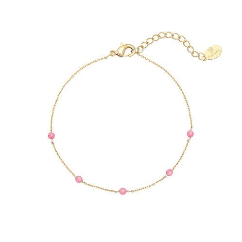 Kylie Bracelet - Goud & Roze