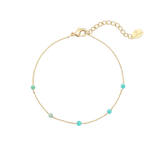 Kylie Bracelet - Goud & Turquoise