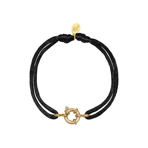 Shay Bracelet - Zwart / Goud