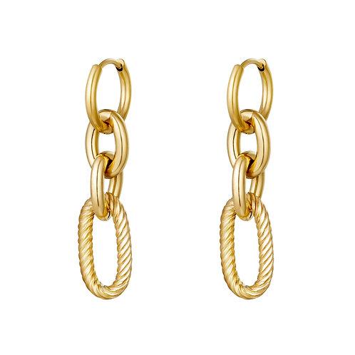 Nisa Earrings - Goud