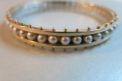 B16 - 14K , Silver & pearls