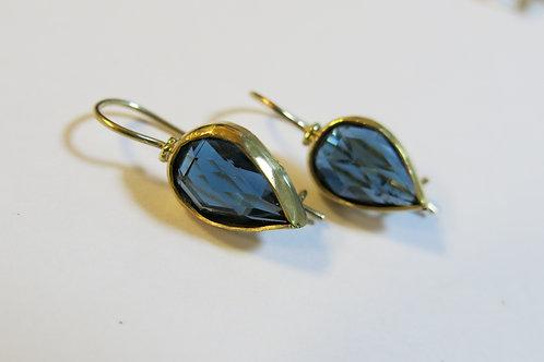 E24 - 14K Gold & Blue Topaz