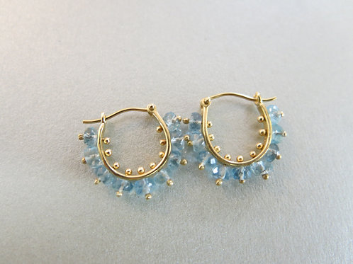 E29 - 14K Gold & Aquamarine
