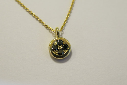 N25 - 14K Gold & Black Diamonds