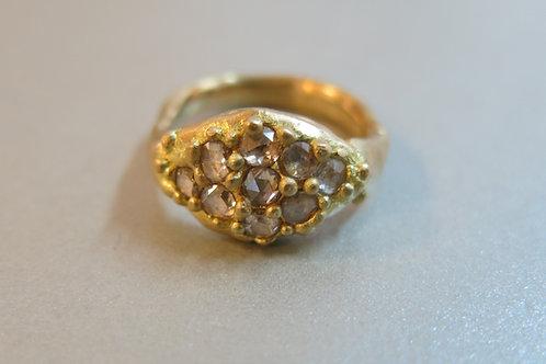 R10 - 18K Gold & Rose Cut Diamonds