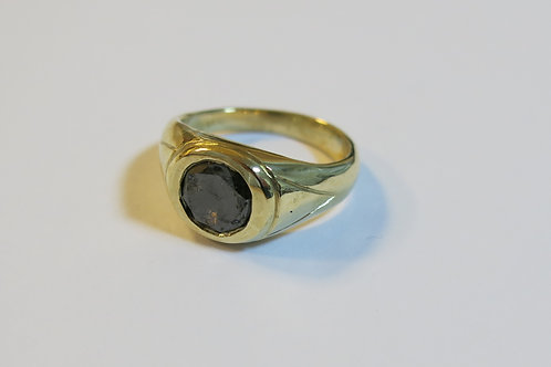 R32 - 14K Gold & Black Diamond