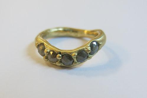 R26 - 14K Gold &  Rosecut Diamonds
