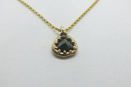N16 - 14K Gold & Black Diamond