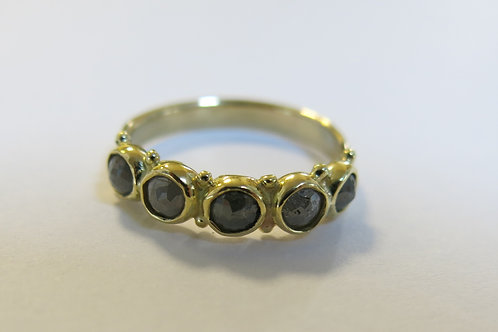 R16 - 14K Gold & Gray Diamonds