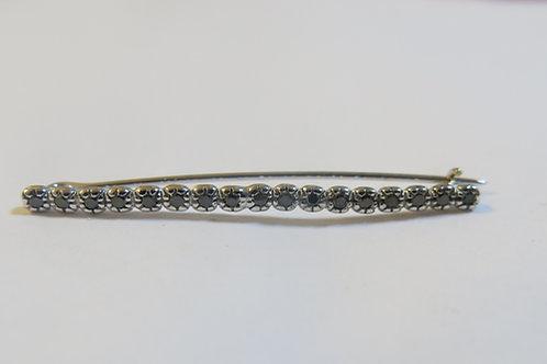 A10 - Pin , 14K Gold & black Diamonds