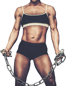 MuscularWomanBodybuilderWhiteBackground.
