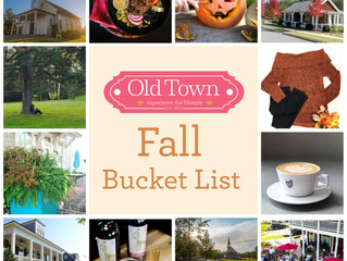 Your Fall Bucket List at Old Town