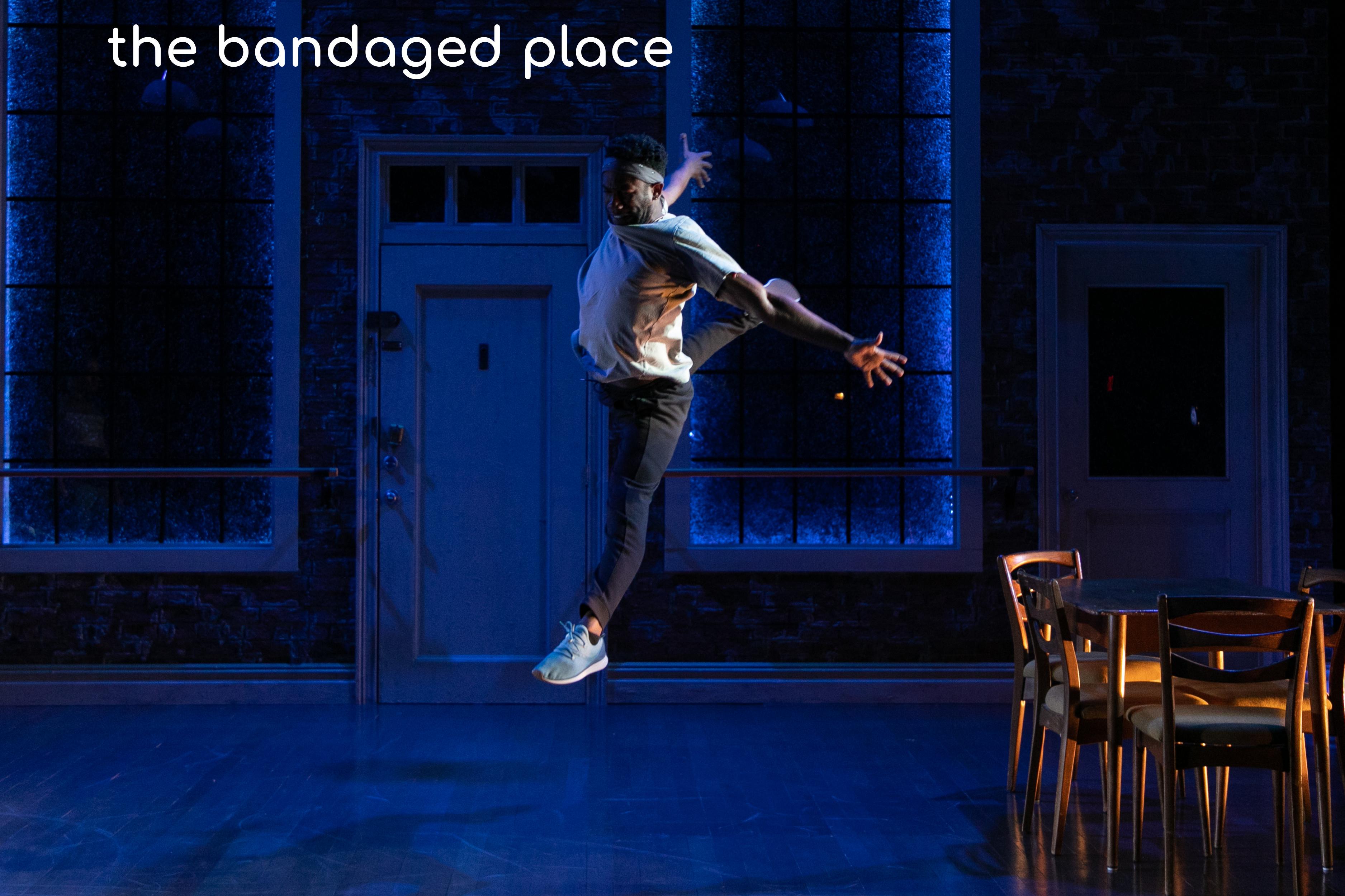 the bandaged place