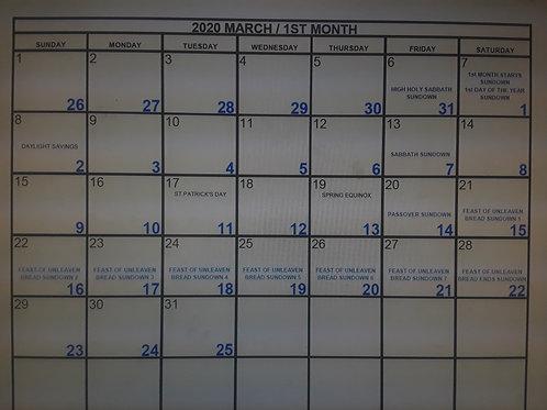 Hebrew/Enoch 364 Day Calendar