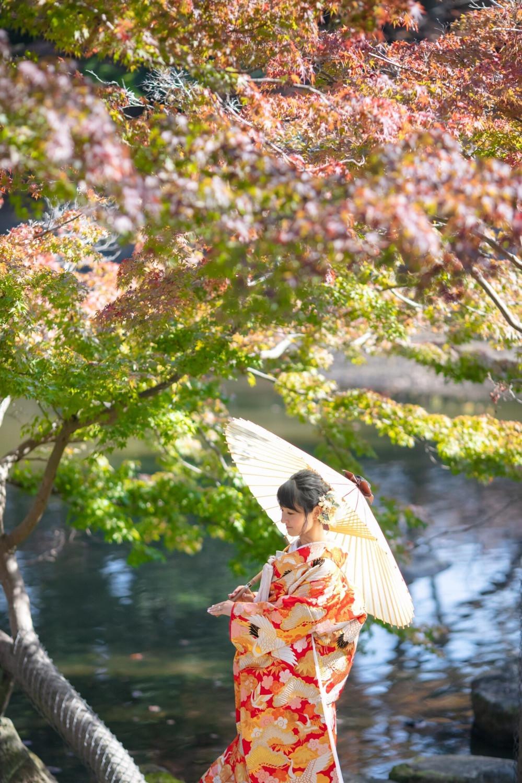 奈良前撮り 紅葉