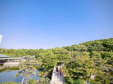 前撮り 大仙公園日本庭園