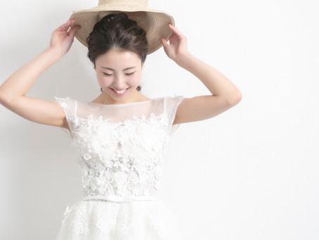 夏の前撮り撮影ドレス