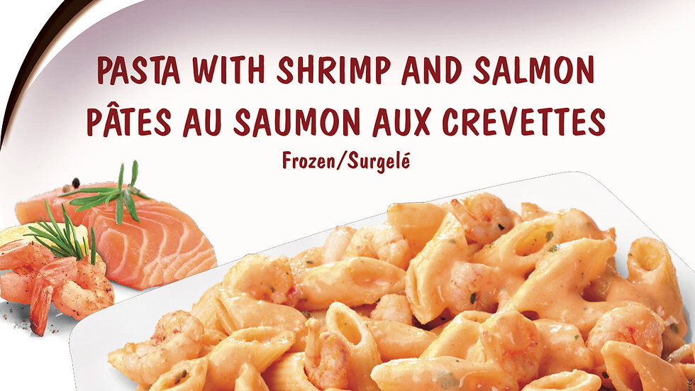 8. Pasta with Salmon and Shrimp