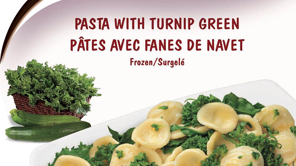 7. Pasta with Green Turnip
