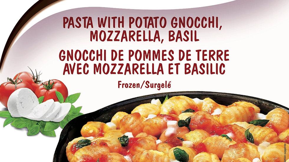 3. Pasta with Potato Gnocchi, Mozzarella, Basil