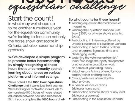 1000 Hour Equestrian Challenge