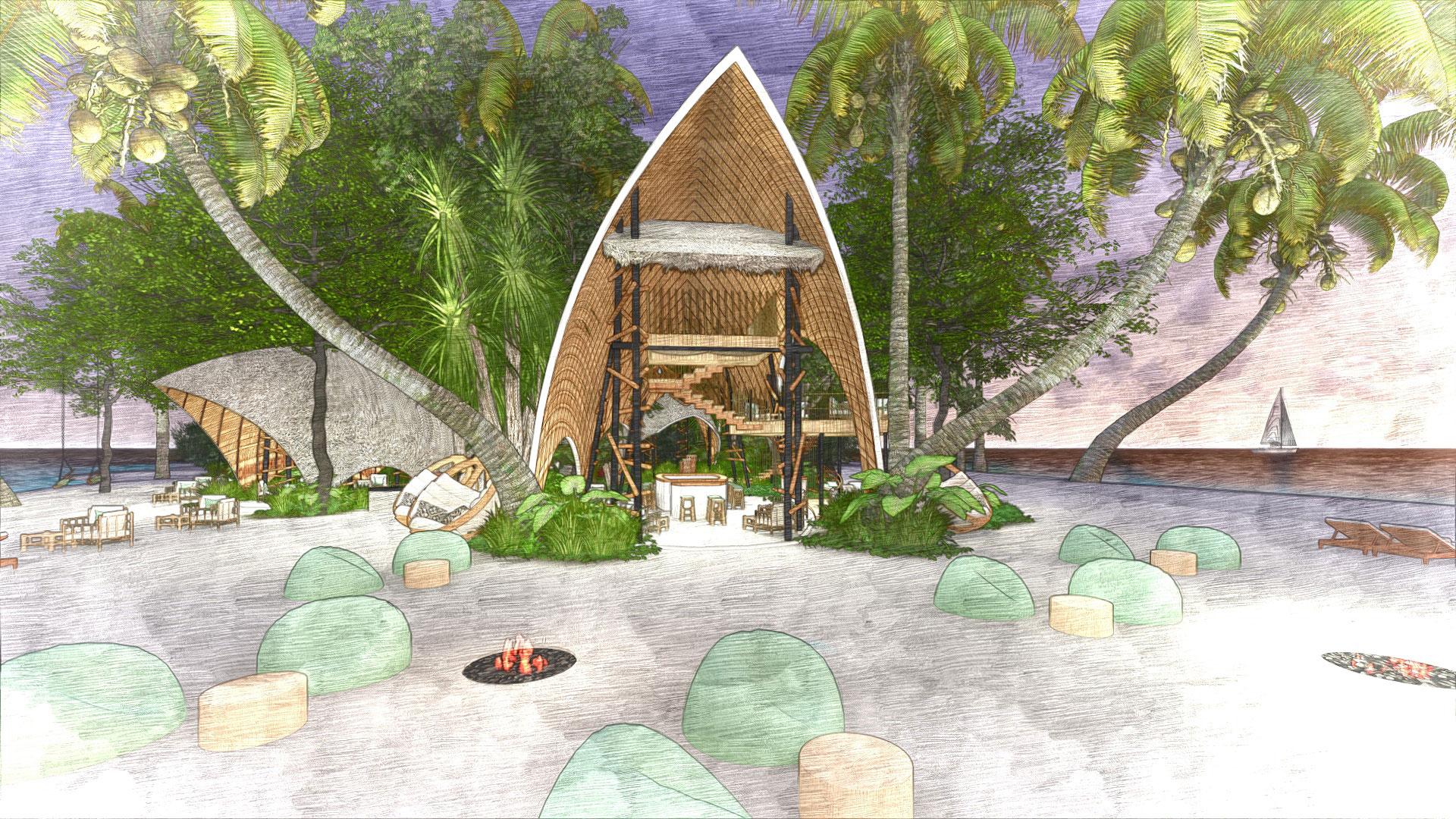 Dhigali Island Resort Maldives -Topo Design Studio Landscape
