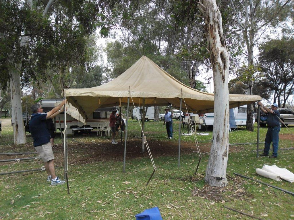 to erect a tent?