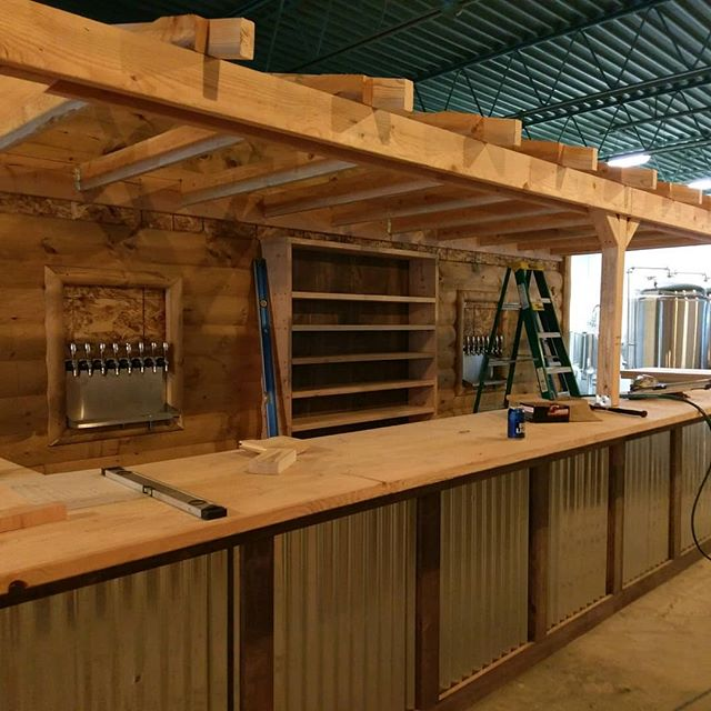 Bar is coming along nicely