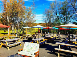 It's a beautiful fall day in the beer ga