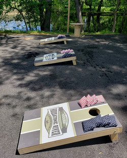Your Cornhole awaits! Open 12-6pm today.