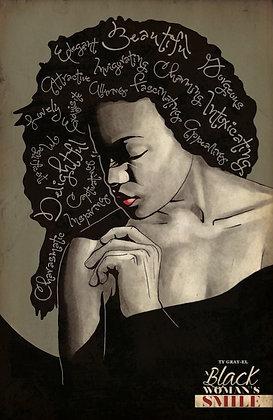 A Black Woman's Smile Poster
