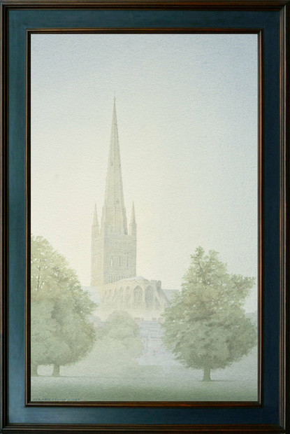 Norwich Cathedral from the playing field
