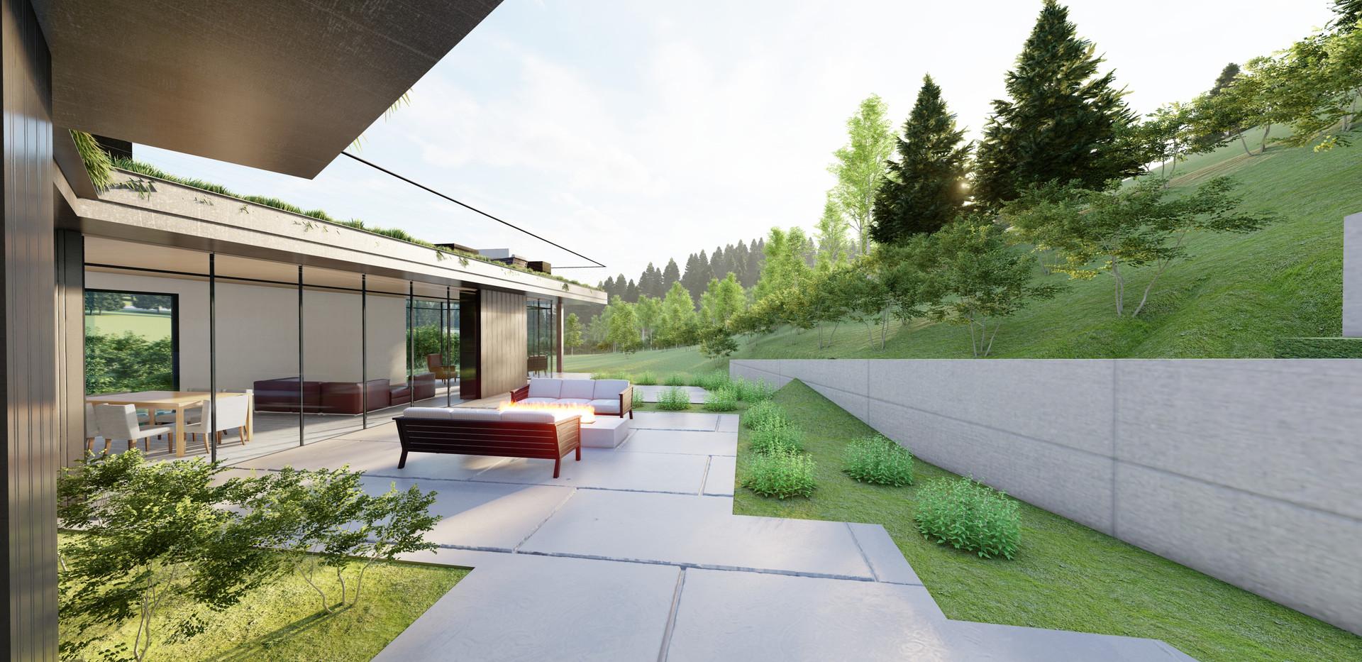 Creekside Terrace - Courtyard from Bedro