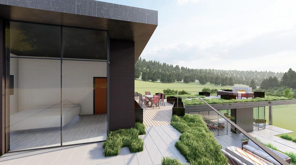 Creekside Terrace - Roof Deck from Bridg