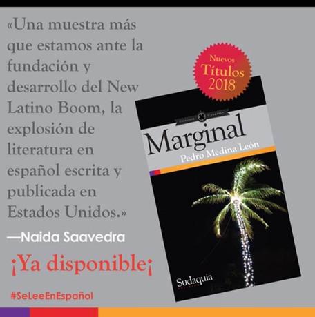 Blurb para Marginal. Sudaquia Editores, 2018.