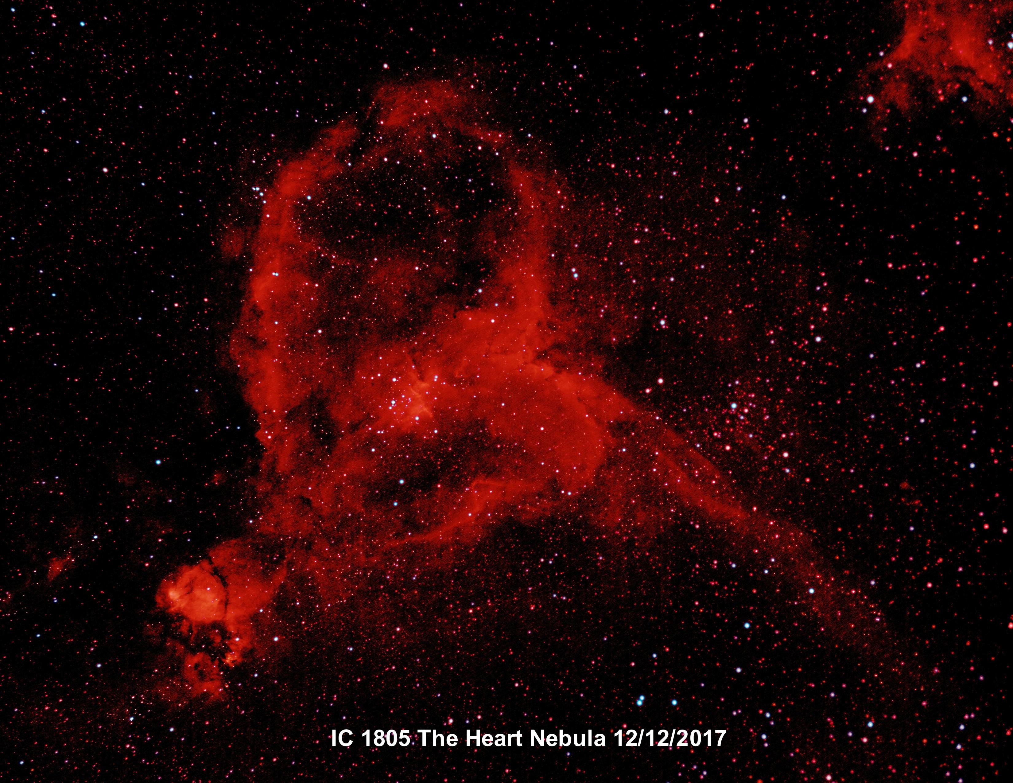 IC 1805 Heart Nebula Ha