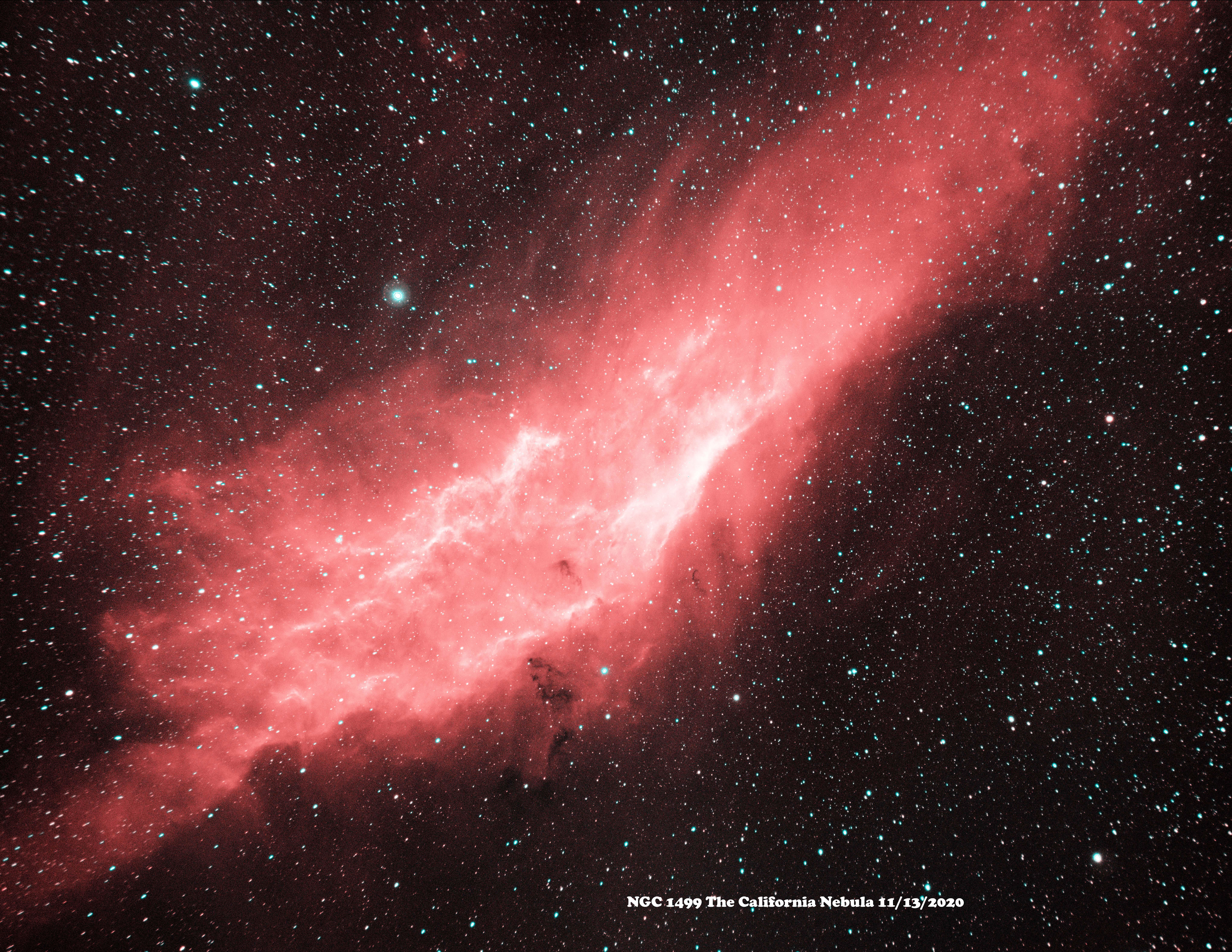 NGC 1499 HaOiii 2020