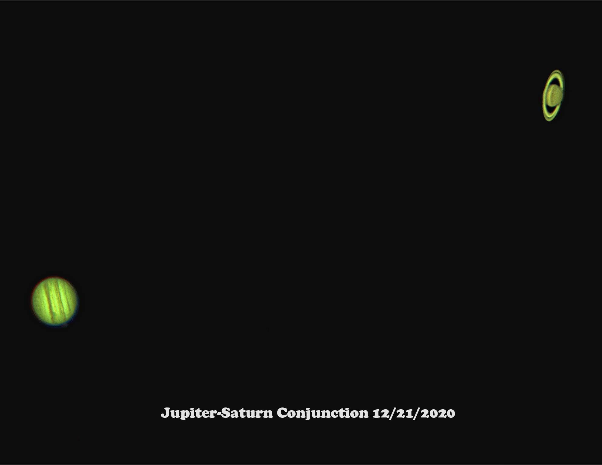 Jupiter- Saturn Conjunction  12-21-2020.
