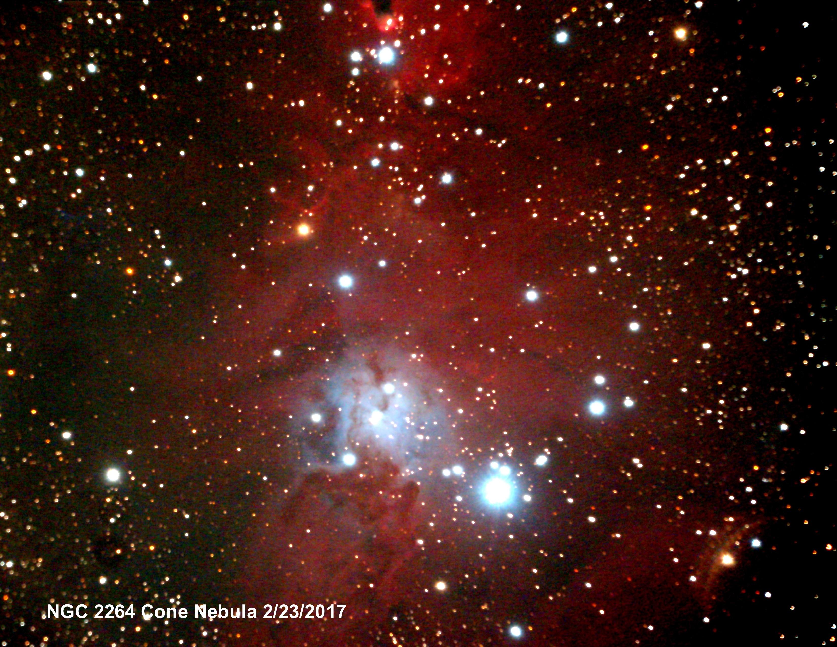 NGC 2264 Cone Closeup