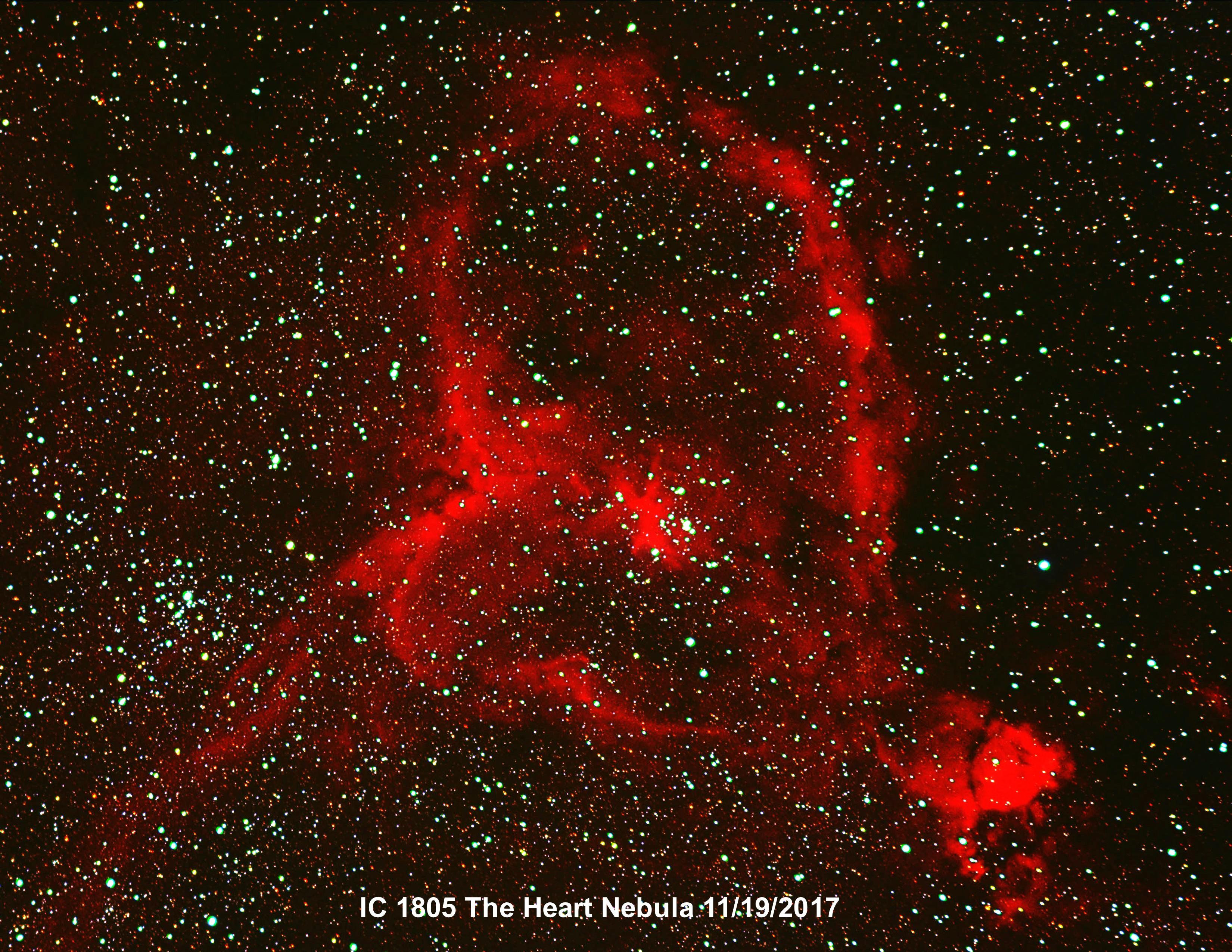 IC 1805 Heart Nebula 11-2017