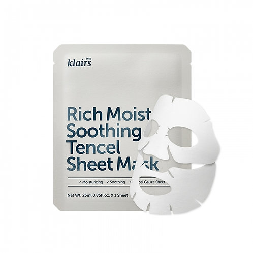 KLAIRS RICH MOIST SOOTHING TENCEL SHEET 25ml
