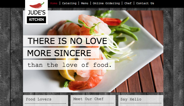 Restaurants en eten website templates – Chef-kok
