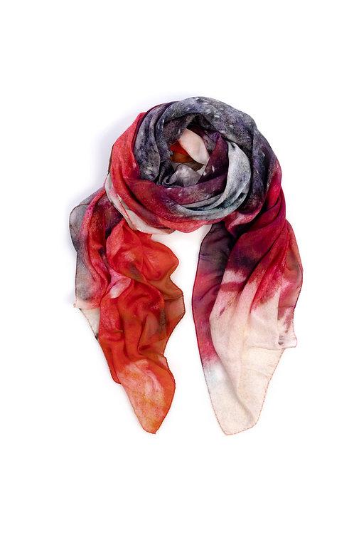 HEART OF ACE Foulard BLOSSOM RED - Modal / Silk Blend