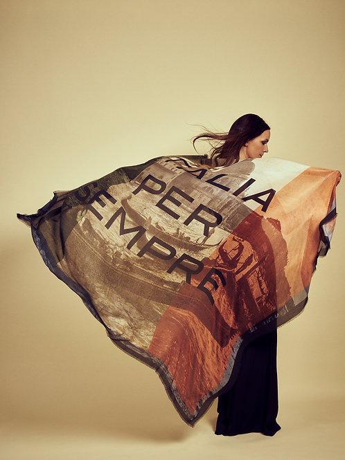 HEART OF ACE Schal ITALIA PER SEMPE  -  Modal / Silk Blend